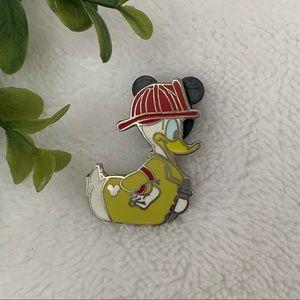 Disney Donald Duck Firefighter Hidden Mickey Pin
